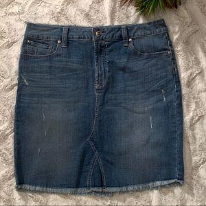 Seven 7 Blue Jean Skirt